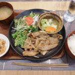78668465 - 豚トロと塩カルビの照り焼き定食 ¥980+税