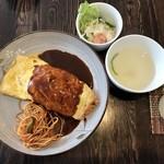 めし・カフェ・一風来 - 大人のオムレツ、800円です。