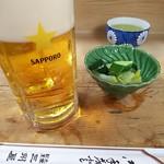 大衆割烹 三州屋 - 生ビールと漬け物