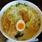 二丁目酒場ぽんた - 七色野菜ラーメン(味噌)  780円。