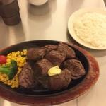 肉の村山 - Texasステーキ400g1080円!