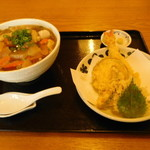 78675164 - しっぽくうどん+天ぷら