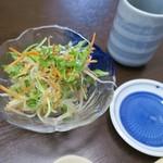 すしの田丸家 - ランチセットのサラダ