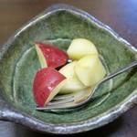すしの田丸家 - ランチセットのデザート