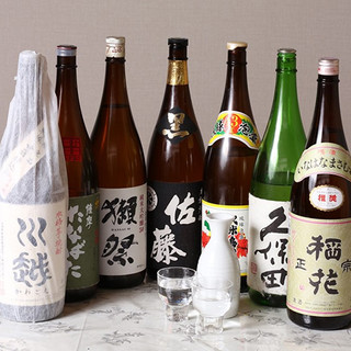 厳選した日本酒、焼酎
