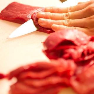 肉寿司のこだわりの馬肉
