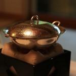 柳生の庄 - 朝食の一例:生湯葉鍋