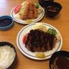 いさみや - 料理写真:私はランチロースカツ定食850円、 妻は海老フライ定食1380円です。