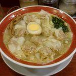 78691217 - 広州雲吞麺(塩)と魯肉飯のランチセット950円税込