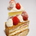 デコラシオン - ストロベリーショートケーキ、いちごミルク、苺のミルフィーユ
