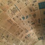 ピッツェリア・ロマーナ・イル・ペンティート - 天井に新聞紙