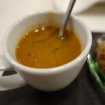 リゴレッティーノ - 栗とうずら豆のスープ