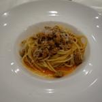リゴレッティーノ - 仏産七面鳥のラグーのスパゲッティー