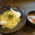麺家 あべの - つけ麺並+味玉