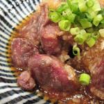 焼鳥のヒナタ - ズリ唐ポン酢