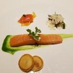 メゾン タテル ヨシノ - お魚料理は サーモンの燻製