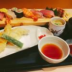 78705354 - にぎり和定食、海老天ぷら盛り合わせ