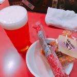 78705510 - 1杯目  with 歌舞伎揚&魚肉ソーセージ
