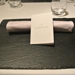 リストランテ カノフィーロ - 2017年12月29日のテーブルセット