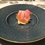 リストランテ カノフィーロ - 札幌黄のアロースト カキのピュレと生ハム