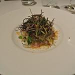 リストランテ カノフィーロ - 真鯛のカルパッチョ 真蛸とカブ、ボッタルガ