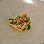リストランテ カノフィーロ - タラバガニと春菊、フレッシュトマトのソース カサレッチェ