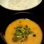 ちょうちん - 雑炊にいれるご飯と卵