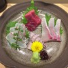Sandaimemaruten - 料理写真:刺身 三種盛り + 一種(アップ)