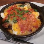 ピッツェリアバール ドォーロ - ほうれん草とゆで卵のラザーニャ