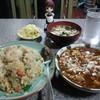 cafeル・マン - 料理写真:五目炒飯と麻婆豆腐(750円)