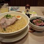 ガスト - 特製味噌ラーメン(税抜き699円)とミニマグロご飯セット(税抜き349円)