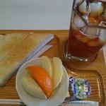 フクスミ - 料理写真:アイスティー(450円)とモーニング