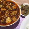 陳建一麻婆豆腐店 - 料理写真:麻婆豆腐セット¥1100。辛さB(普通)。 セットは搾菜と、お代わり可能なライスとスープ。