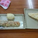 78721884 - 天ぷら(ちくわ、玉子、れんこん)
