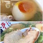 ラーメン横綱 - 味玉と薄切りチャーシュー