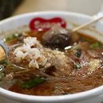 スープカレー スアゲ2 - 赤米をブレンドしたご飯をスープにくぐらせると最高♪