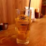 横浜五番街 いち五郎 - かちかち塩レモンハイボールの追いハイ(量が少ない)
