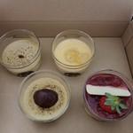 マーロウ - 紅はるか焼きいもプリン、クリスマスプリン、アップル有精卵プリン、栗スペシャルプリン