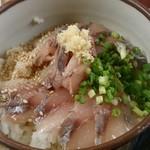 鰺家 - 鯵家定食の鯵たたき丼