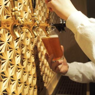 厳選セレクトしたクラフトビールを5種類ご用意