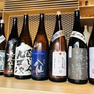 """限定物の""""日本酒""""を約20種ご用意"""