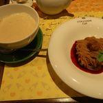 ロクシタンカフェ - マロンティラミスのモンブランとカフェオレ ロクシタン