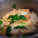 鴨鶴 - 料理写真:穴子釜飯