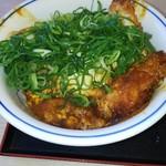 かつや - 青ネギ味噌カツ丼。