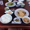 中華料理 漢華林 - 料理写真:玉葱・玉子・豚肉の炒め定食(手間)