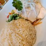 78737583 - チキンライスセット(サラダ、スープ、デザート付き)¥1050(税抜)