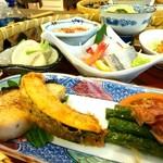 ペンションプチポワ - 料理写真:朝食 籠盛りのお膳