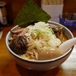 藤原らーめん店・カレー店 - 味玉濃厚らーめん(大盛)