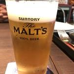 シンガポール ホーカーズ - 生ビール。