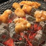 アジア食堂 - 料理写真:牛ホルモン3点盛りコプチャン、丸チョウ…シビレまだ載ってないネ